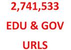 Thumbnail BACKLINKS List of 2.7 Million Unique .EDU and .GOV URLS